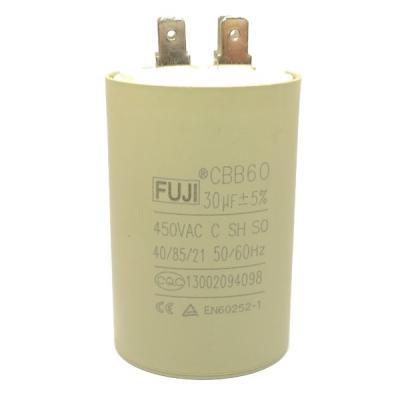 Пусковой конденсатор 30uf/450v FUJI CBB60 42x70mm