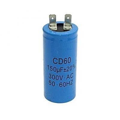 Пусковой конденсатор 150uf/300v CD60