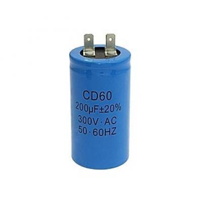 Пусковой конденсатор 200uf/300v CD60