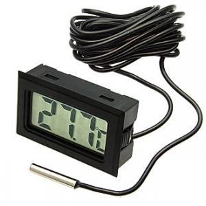 Термометр цифровой HT-1 black 3m