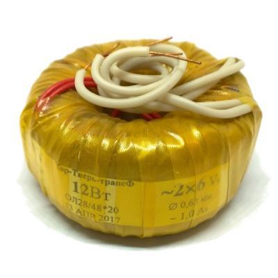 Тороидальный трансформатор 12W 220V-2х6V