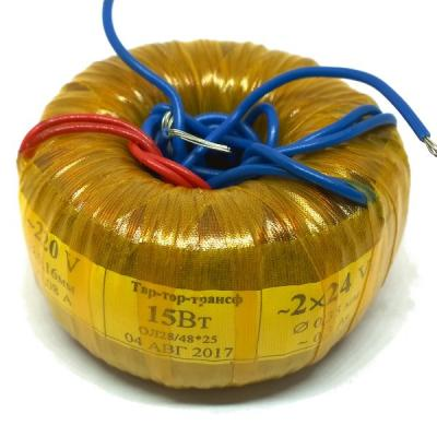 Тороидальный трансформатор 15W 220V-2x24V