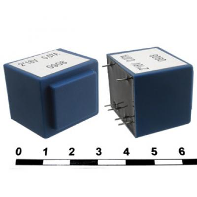 Трансформатор сетевой ТПК-2 (ТПГ-2) (аналог) 2х18V (0,08А)