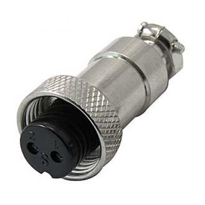 Цилиндрический разъем GX12M-2A розетка