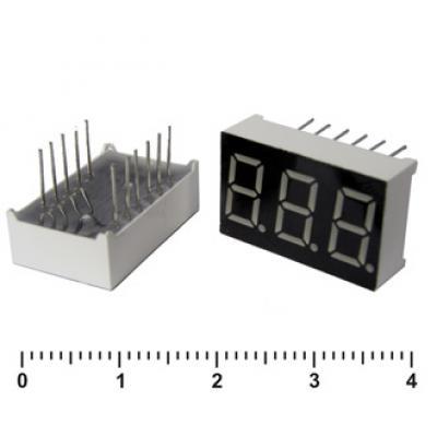 Цифровой индикатор KEM-3361BG (Green)об.анод