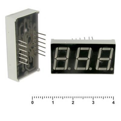 Цифровой индикатор KEM-5361BR (красный) об.анод