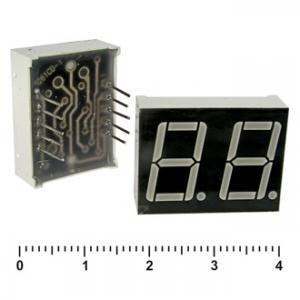 Цифровой индикатор KEM-5262BR (красный) об.анод