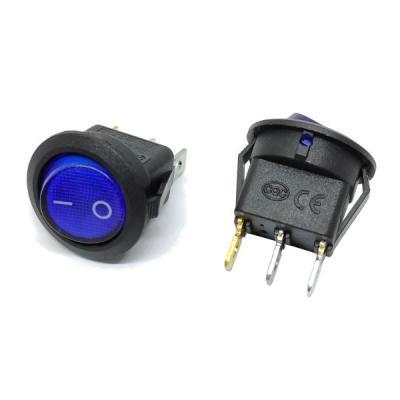 Клавишный переключатель SC768 on-off (blue) 6A 250V