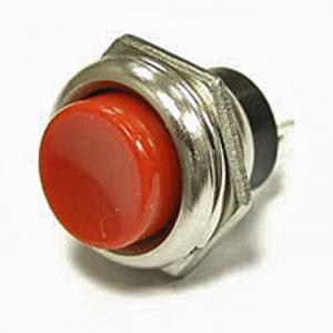 Кнопочный переключатель PBS-26B off-(on) красный