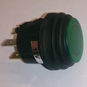 Кнопочный переключатель Влагозащищенный 12v green