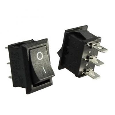 Клавишный переключатель KCD1-102-1-C on-on (black) 6A 250v