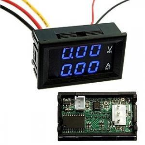 Амперметр-Вольтметр DC цифровой 0-100V 0-10A blue