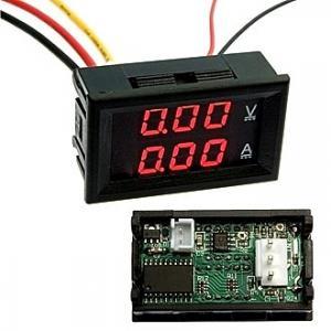 Амперметр-Вольтметр DC цифровой 0-100V 0-10A red