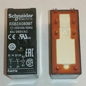 Реле электромеханическое RSB2A080M7 (220VAC)