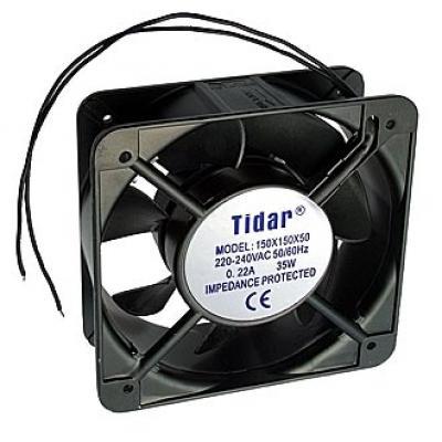 Вентилятор AC 150x150x50 (220v/0,22A) RQA15051HBL качения Tidar