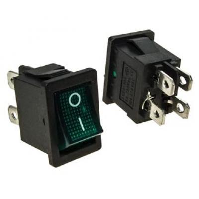 Клавишный переключатель KCD1-201N-4-C3 G/4P on-off