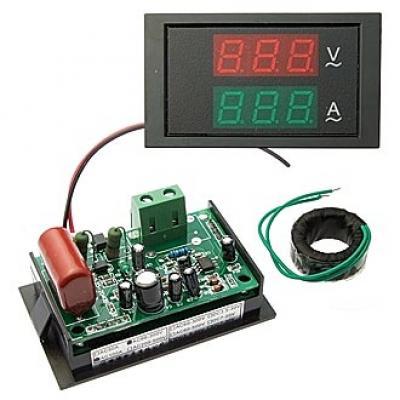 Амперметр-Вольтметр AC цифровой YB4835-LED 80-300V 100A (AC)