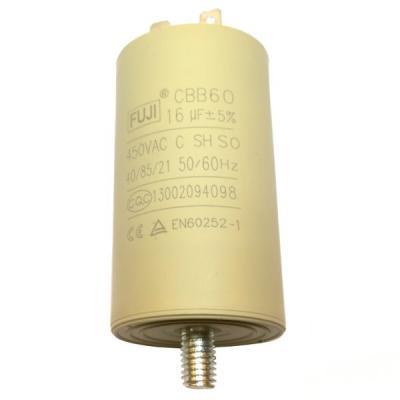 Пусковой конденсатор 16uF/450v FUJI CBB60 40x70 BOLT