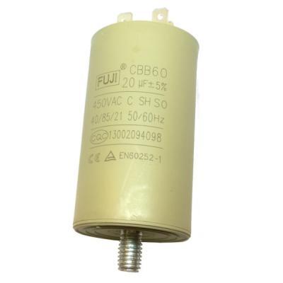 Пусковой конденсатор 20uF/450v FUJI CBB60 40x70 BOLT